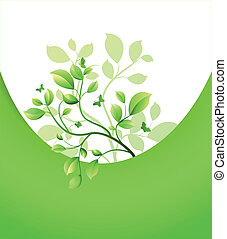 Abstract pattern with leaf tree. Vector