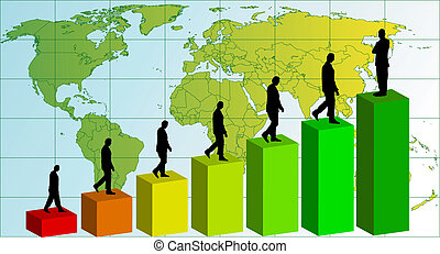 Business team chart earning Vector - business team chart...