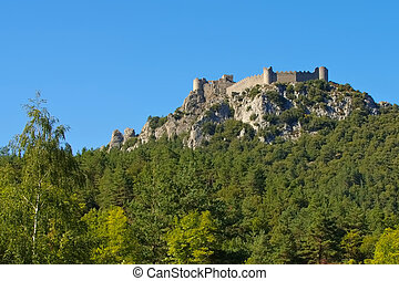 castle Puilaurens in France - cathare castle Puilaurens in...