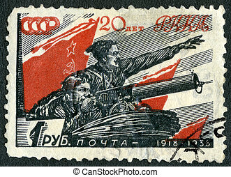 USSR - 1938: shows Chapaev and Boy, Vasily Ivanovich...