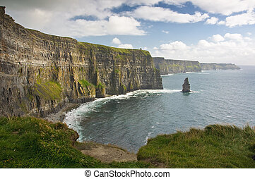 beautiful scenic landscape from the west coast ireland -...
