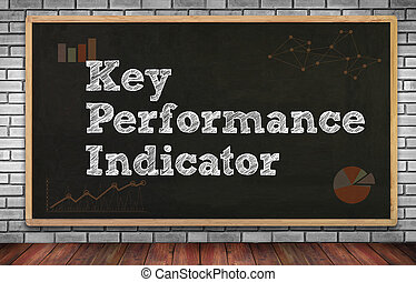 KPI acronym (Key Performance Indicator) on brick wall and...