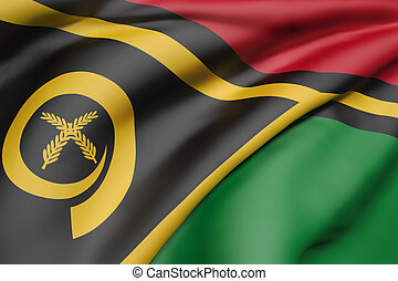 Republic of Vanuatu flag - 3d rendering of Republic of...