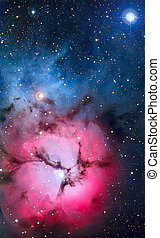 Sagitario, nebulosa, constelación,  trifid