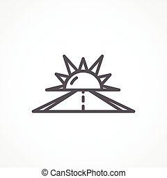 Optimism icon - Gray Optimism line icon on white background