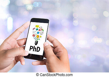 PhD Doctor of Philosophy Degree Education Graduation person...