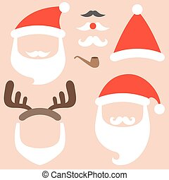 Vector collection of santa hat