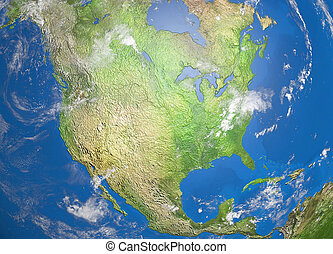 map of nord america