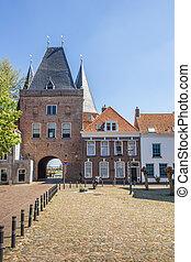 Koornmarktspoort in the historical center of Kampen,...