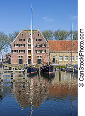 Old building the Peperhuis in Enkhuizen, Netherlands