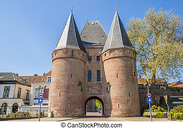 Koornmarktspoort in the historical center of Kampen,...