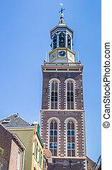 Tower Nieuwe Toren in the historical city Kampen,...