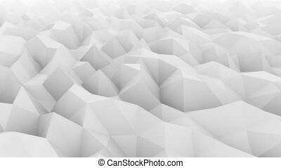 Low poly light gray abstract polygonal modern motion...