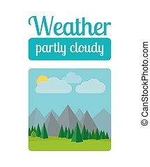 Partly cloudy weather illustration - Weather illustration in...