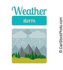 Storm weather illustration