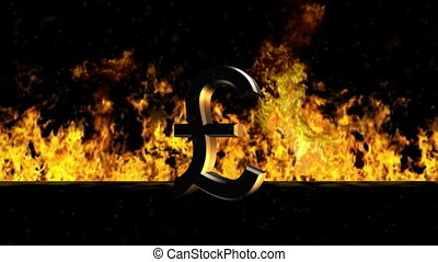 Pound Sign Burning Hot Word in Fire