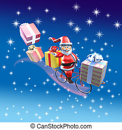 Santa Claus bike