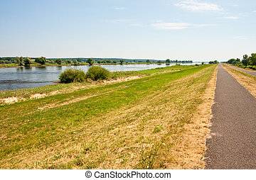 River Oder in Germany - River Oder between Germany and...