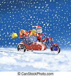 Santa Claus sidecar