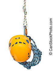 climbing equipment - Isolated new climbing equipment -...