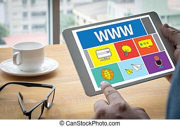 WWW Website Online Internet Web Page computer Computing...