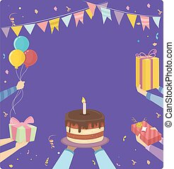 Birthday Party Hands Frame