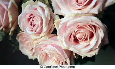 Pink Roses Bouquet - Beautiful Bouquet of Pale Pink Roses