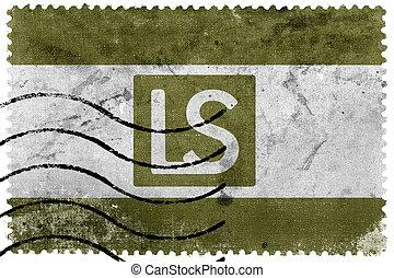 Flag of Lees Summit, Missouri, USA, old postage stamp