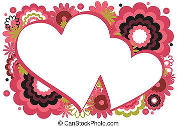 Dark Pink Heart Frame