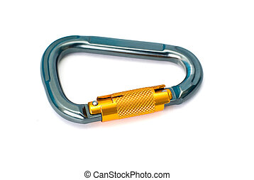 carabiner - Isolated new carabiner without scratches