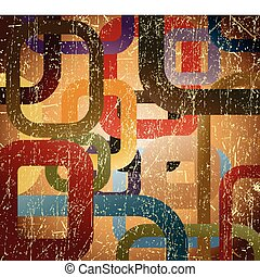 Abstract grunge square on brown background - Abstract grunge...