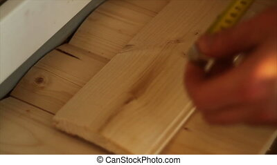 measuring tape measure small Board of wood