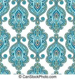 Indian ethnic seamless pattern with hand drawn ornament
