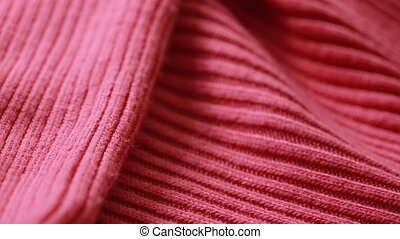 Red woolen worsted sweater pattern. can use as background. -...