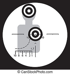Target. - The target and the optical sight are shown in the...