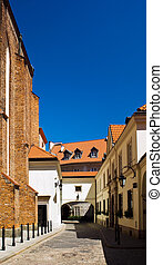 Narrow street of old city in Europe