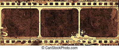Grunge film frame - Computer designed highly detailed film...
