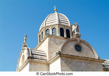The Cathedral of St. James in Sibenik, Croatia. UNESCO World...