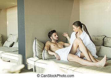 Couple in the room