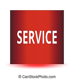Vector icon with the word SERVICE