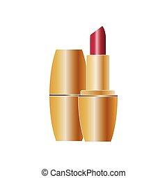 Red lipstick icon beauty salon cosmetics.