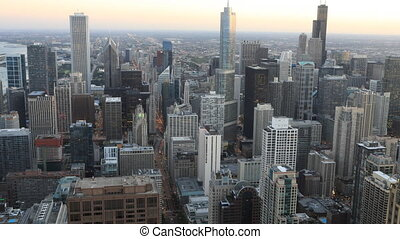 Aerial timelapse of the Chicago, Illinois city center - An...