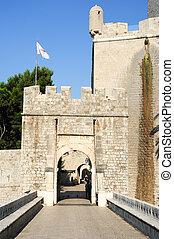 Ploce door at the citadel of Dubrovnik