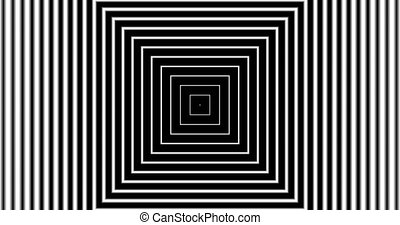 Tunnel4-12-na - Motion background with moving geometric...