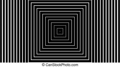 Tunnel4-02-na - Motion background with moving geometric...