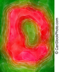 The letter D. - The D letter painted watercolor.