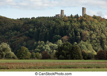 The ruin of Brandenburg in the Werra Valley in Germany