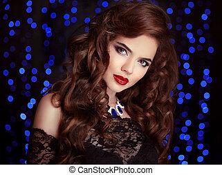 Beautiful Sexy Brunette Woman - Hair Beautiful Sexy Brunette...