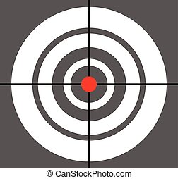 Background with target, reticle, crosshair symbol. Icon for...