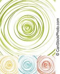 radial, círculos, Extracto, Plano de fondo, Espiral,...